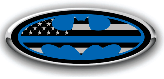 Ford Emblem Decals Ford Overlay Emblem Decals Thin Blue Line Batman