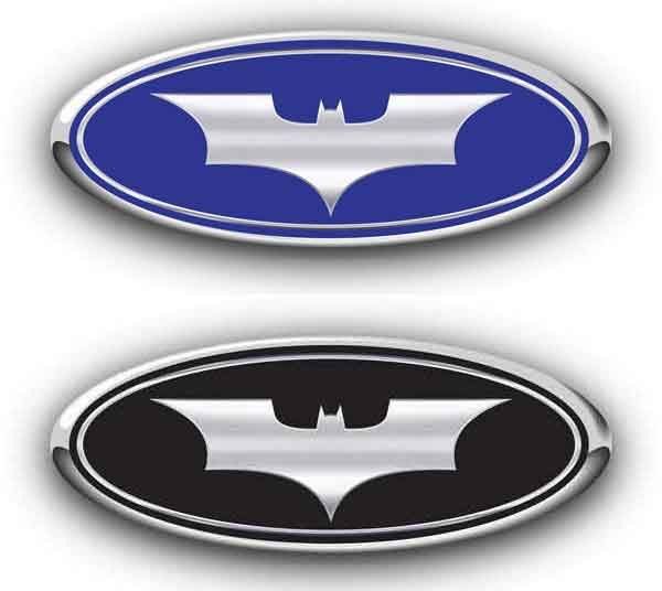 Ford Batman Begins Emblem Decals Darkside Racing Art Ford